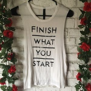 """Aeropostale """"Finish What You Started"""" Tank Top"""